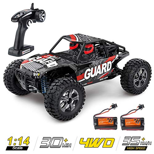 1:14 Scale Large RC Cars High Speed ,Zuhafa,35+ kmh 4WD 2.4GHz,Remote Control Truck Toys for Kids and Adults - 2 Batteries for 30+ Min Play Car Gifts for Boys