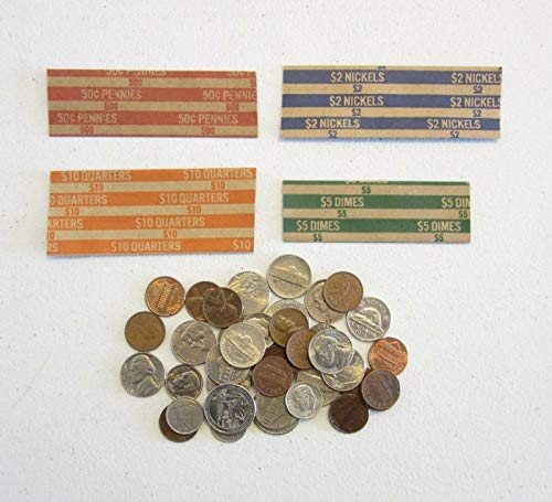 AirGarden – 1000 Coin Wrappers Mixed 250 Each of Quarter DIME Nickle and Penny Wrappers
