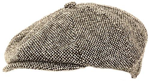 Hommes noir et gris casquette gavroche - Noir et Blanc, 58 cm