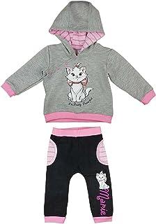 Barnkläder med djurmotiv. Set med långärmad tröja och långbyxor med katten Marie på.