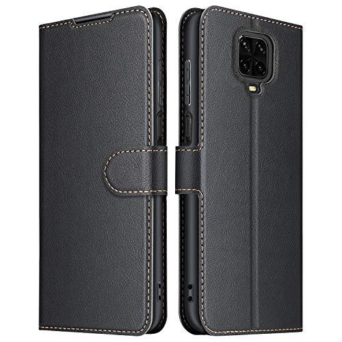 ELESNOW Coque pour Xiaomi Redmi Note 9S / Note 9 Pro, Premium Portefeuille Étui Housse en Cuir Compatible avec Redmi Note 9S / Note 9 Pro (Noir)