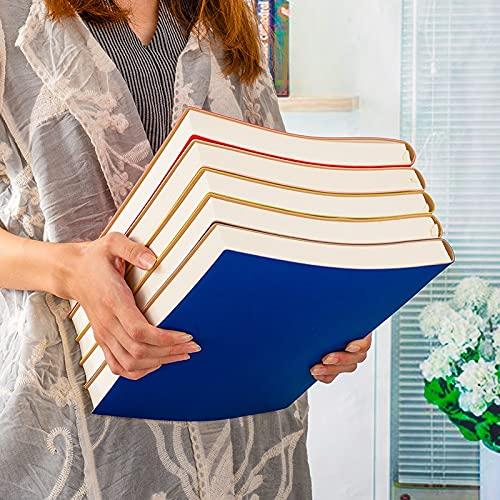 MALAT A4 8.3X11.4 Pulgadas Espesar Diario De Cuero Suave Cuaderno Forrado Oficina De Negocios En Blanco Agenda De Cuaderno Grande