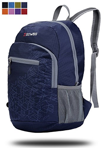Gowiss Backpack - Rated 20L / 33L- Most Durable Packable Convenient Lightweight Travel Backpack Daypack - Waterproof,Ultralight and Handy (Navy, 20L)