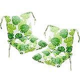 Deike Mild 2 Stück Stuhlkissen mit Rückenteil Sitz, Rückenkissen mit Bänder, Niedriglehner...