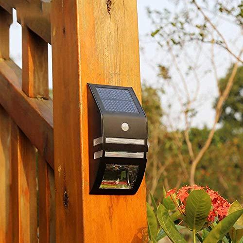 Lámpara solar al aire libre Detector de movimiento de pared Foco de seguridad Luz solar al aire libre LED impermeable IP65 adecuado para jardín, patio, valla, terraza