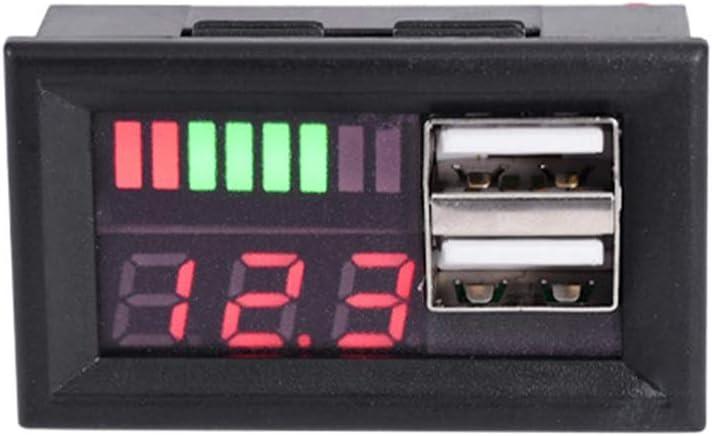 Abnana 12V Digital Voltmeter Voltage Battery Panel Meter w USB 5V Output