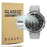 Diruite Protector de pantalla para Samsung Galaxy Watch 4 Classic 42 mm Protector de pantalla de vidrio templado para Samsung Galaxy Watch 4 Classic 42mm Smart Watch [dureza 9H] [antiarañazos]