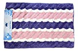 Tache Purple White and Pink Striped Wildflower Stripes Embossed Patterned Floor Bathroom Bath Shower Mat Rug - 2.5 x 4 Feet - 31 X 48 Inch