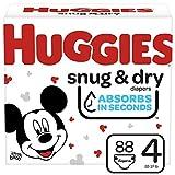 Huggies Snug & Dry Diapers, Size 4, 88 Ct