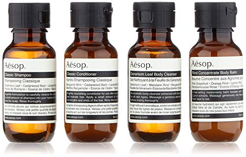 Aesop Jet Set Kit (Shampoo,50ml+Conditioner,50ml+Bodybalsam,50ml+Duschgel,50ml)