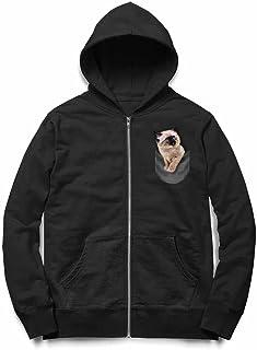 Fox Republic ポケット シャムネコ 子猫 ブラック キッズ パーカー シッパー スウェット トレーナー 150cm