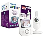 Philips Avent Video-Babyphone SCD630/26, 3,5 Zoll Farbdisplay, ECO-Mode, 10...