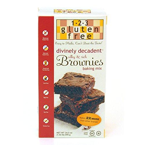 123 Gluten Free Divinely Decadent Brownie Mix, 24.5 oz