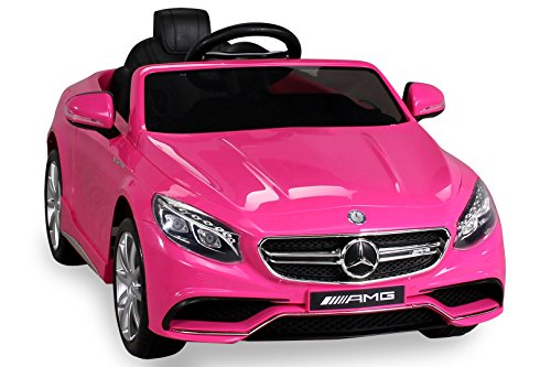 S 63 rosa Kinderauto Kinderelektroauto Kinderelektrofahrzeug Kinder elektroauto 12V Orginal RC Mercedes s 63 AMG