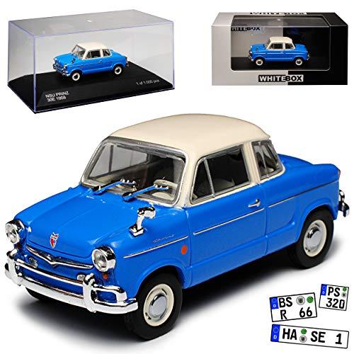 Whitebox NSU Prinz 30E 1959 limitiert 1 von 1000 Stück 1/43 Modell Auto mit individiuellem Wunschkennzeichen