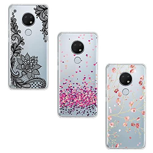 JIENI Cover per Nokia 6.3 (6.44') Custodia, Trasparente Silicone Custodie Protettivo Morbido Shell Cartoon Case TPU Guscio Copertura - WM84+85+108
