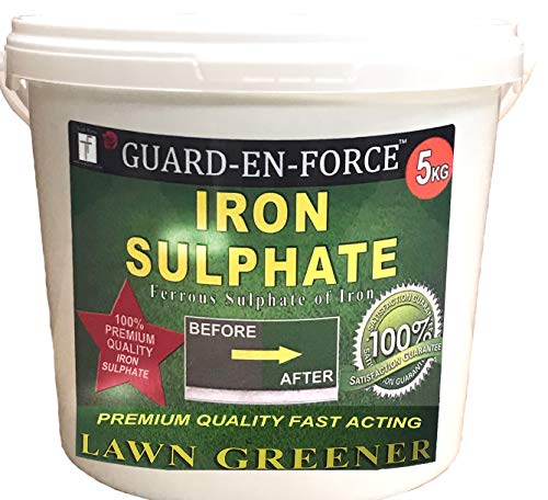 Tradefarmni Iron Sulphate Premium Soluble Fertiliser Moss Killer and Lawn Greener Dry Powder Tub, 5...