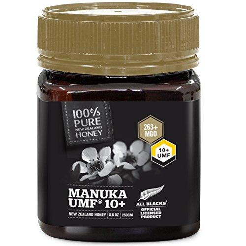 Miel de Manuka pura de Nueva Zelanda – certificado UMF 10+ – 8.8 oz – todos los negros con licencia oficial miel