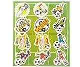 KP KINPARTY ® - Pegatinas de Futbol para niñas y niños – 120 Unidades - para Regalos de cumpleaños, Relleno de piñatas, Regalos Sorpresa, Detalles, Fiestas