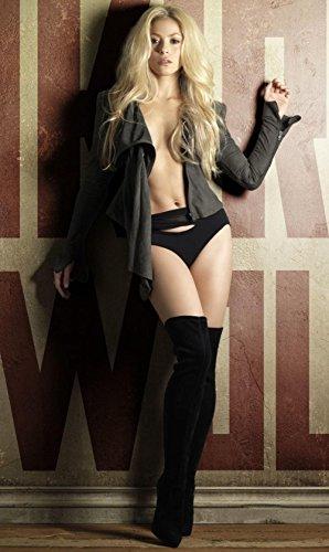 Yellowday Shakira Star Poster Family Silk Wall Prints 40 inch x 24 inch / 21 inch x 13 inch