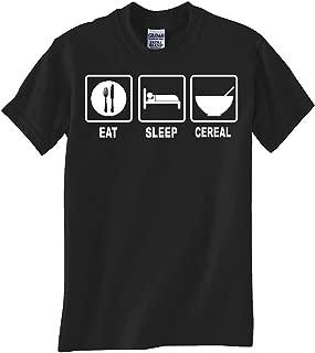 Gildan EAT Sleep Cereal Black TEE Shirt