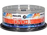 Philips 8X DVD+R DL Double Layer 8.5GB Spindle 25 Pack (DR8S8B25F/17)