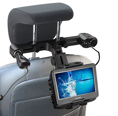 Navitech in Car Portable DVD Player Head Rest/Headrest Mount/Holder with 4.2A Integrated car Charger Port Compatible with The NAVISKAUTO 10.1 inch