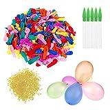 JAHEMU Globos de Agua Globos Látex Water Balloons Refill Kits Aire Libre Deportes para Niños Adultos 1000 Piezas
