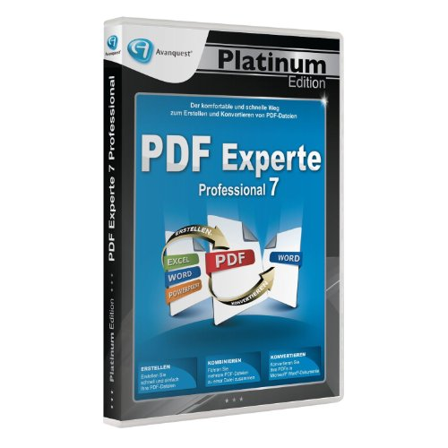 PDF Experte 7 Professional - Avanquest Platinum Edition