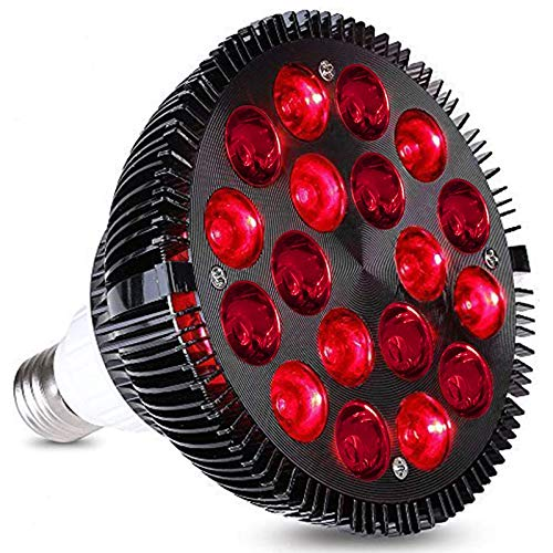 CDFCB LED Rotlicht-Therapiebirne 18W Infrarotlicht 660 Nm 850 Nm Therapiegerät Haut Gesundheitsvorsorge Zurück Schulterschmerzen Leichtigkeit Schönheitslampe,A