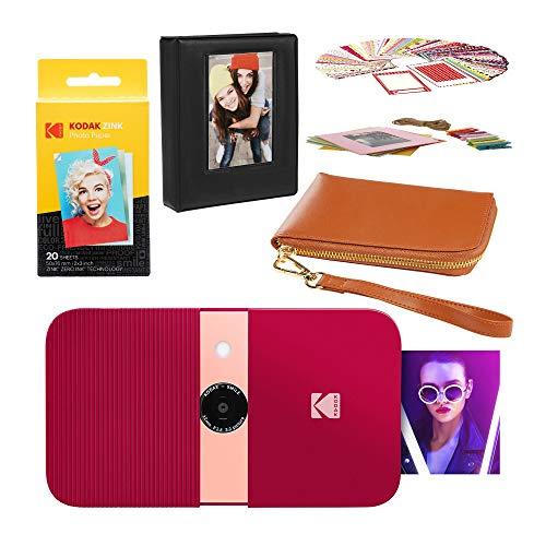 KODAK Smile - Estuche de Viaje para cámara Digital (impresión instantánea), Color Rojo