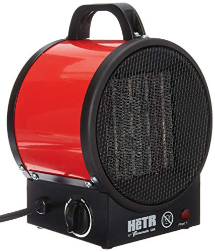 HETR 5120 BTU 120V /60 Hz/1500 Watt Forced Air Ceramic Element and Overheat Protection Portable Space Heater Red