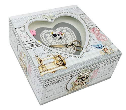 Best Bargain Parera Heart Box, Organizer, Sewing Machine, White, One Size