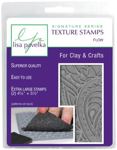Great Create Großartig schaffen Gummi Lisa Pavelka Textur Stempel-Set 10,8cm x 14cm 2kg-Flow–Blattwerk und Paisley