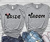Disney Bride Groom Honeymoon Shirts, Wedding T-shirts