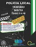 Temario Inicio Policía Local de Andalucía: Temas 21 a 40