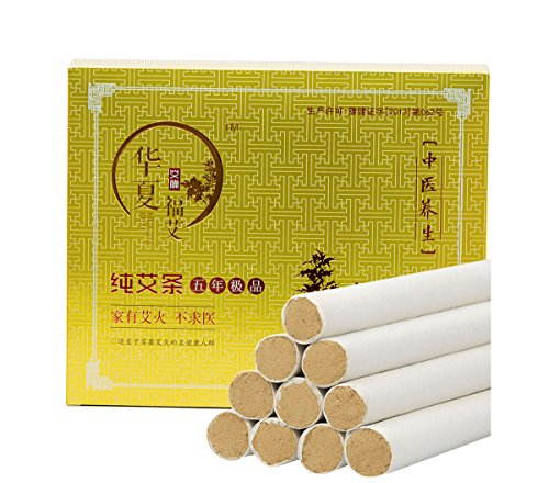 Moxa Sticks, High Purity 35:1 Five Chen Moxa Rolls Bar for Mild Moxibustion(20 pcs)