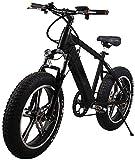 Bicicletas Eléctricas, Adultos bicicleta de montaña eléctrica, 250W Motor 20 pulgadas 4.0 Ancho de neumáticos de motos de nieve Frenos batería extraíble de doble disco Urban Commuter E-Bici unisex ,Bi