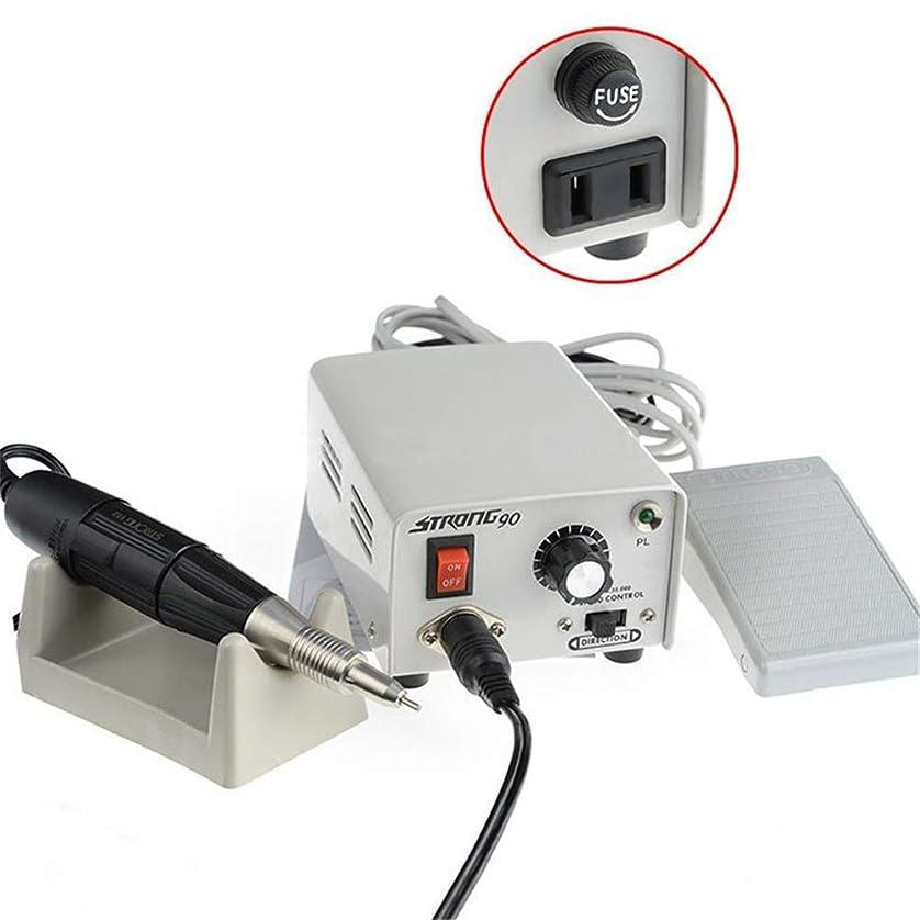 社会サミュエル鼻65ワット電気ネイルカッター35000 rpmプロフェッショナルメタルネイルファイル用ネイルアート研磨研削彫刻マニキュアとペディキュアセット低ノイズ