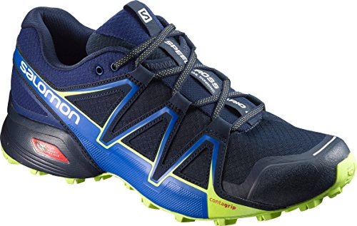 Salomon Speedcross Vario 2, Scarpe da Trail Running Uomo, Azzurro (Navy Blazer/Nautical Blue/Lime Punch), 42 EU