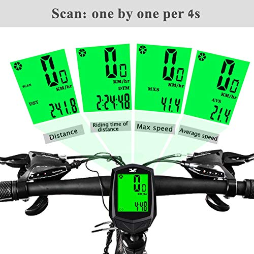 KASTEWILL Compteur Kilometrique de Vélo sans Fil, Ordinateur de Vélo de Route Etanche avec Support et Accessoire