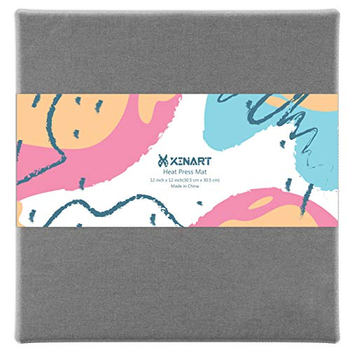 XINART Heat Press Mat for Cricut Easypress(12x12 inch) Cricket Double-Sided Ironing Mat for Craft Vinyl Ironing Insulation Transfer Heating Mats for Easypress 2