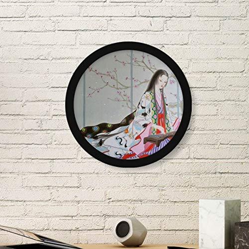 DIYthinker pruim bloesem schoonheid Chinese schilderij ronde fotolijst kunst prints van schilderijen huis muursticker cadeau