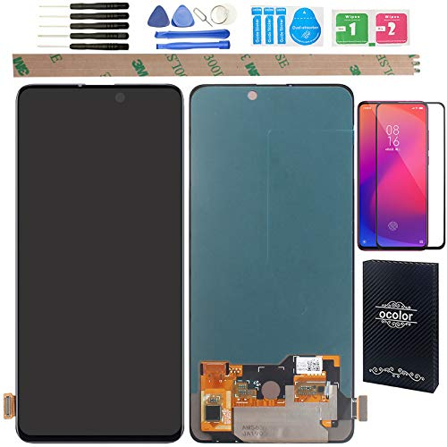 """YHX-OU 6.39"""" para Xiaomi Mi 9T Mi 9T PRO Redmi K20 K20 PRO de reparación y reemplazo LCD pantalla táctil digitalizador con herramientas incluidas + 1 pieza cristal templado (negro)"""
