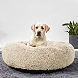 ANWA Washable Dog Round Bed Medium, Donut Dog Bed Medium Dog, Comfy Dog Calming Cuddler Bed