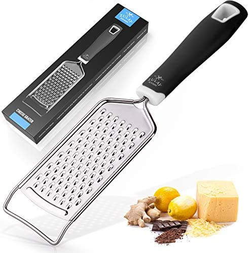 Zulay Kitchen Professional Cheese Grater Stainless Steel Durable Rust Proof Metal Lemon Zester product image