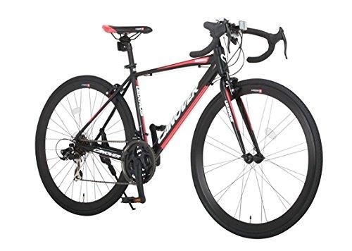 CANOVER(カノーバー)ロードバイク700Cシマノ21段変速CAR-015(UARNOS)アルミフレームフロントLEDライト付マットブラック