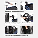 Pet Four-wheeled Stroller Dog Trolley Cat Carts Foldable for Medium Large Dogs Outgoing, Load Within 60kg (Blue) 13