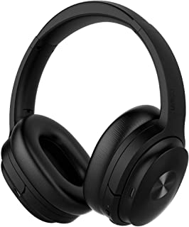cowin SE7 Active Noise Cancelling Headphones Bluetooth Headphones Wireless Headphones Over Ear with Mic/Aptx, Comfortable Protein Earpads 50H Playtime, Foldable Headphones for Travel/Work (Black)