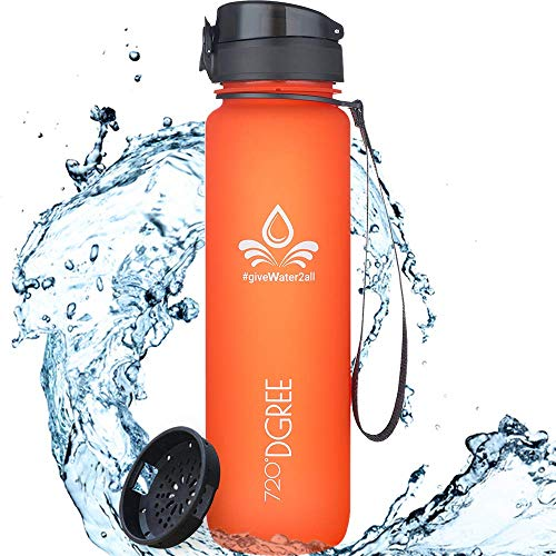"720°DGREE Water Bottle ""uberBottle"" - 1 L - With Fruit-Infuser, BPA-Free Tritan,..."